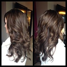 Image result for chocolate hair with auburn lowlights and subtle caramel highlights