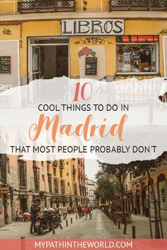 Non Touristy Things to Do in Madrid: 16 Alternatives You Can't Miss! Looking for cool things to do in Madrid Spain? Here is your ultimate offbeat Madrid travel bucket list! Europe Travel Tips, Spain Travel, Travel Destinations, Travel Guides, Travel Usa, Travel Plane, Travel Hacks, Travel Backpack, Solo Travel