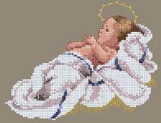 Schema punto croce Gesù Bambino   Hobby lavori femminili - ricamo - uncinetto - maglia