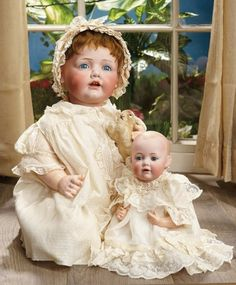 """Sanctuary: A Marquis Cataloged Auction of Antique Dolls - March 19, 2016: Very Fine German Bisque Character """"Hilda"""" by Kestner"""