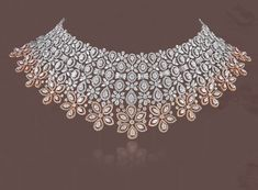 bridal jewelry for the radiant bride Diamond Choker Necklace, Diamond Bracelets, Diamond Pendant, Earrings, Necklace Drawing, Saree Jewellery, Diamond Design, Necklace Designs, Wedding Jewelry