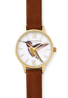 Really Humming Along Watch. You often choose amazing head-to-toe ensembles, but what really makes for an impressive look is when you fasten this leather watch by Olivia Burton around your wrist! #gold #prom #modcloth