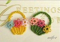 DIY Yarn Flower Basket