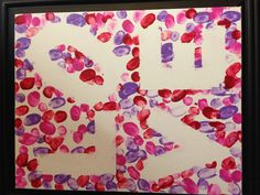 Great Valentine or Mother's Day gift from kids, made using their fingerprints.