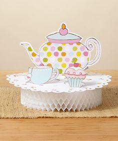 Tea Time Centerpiece - Set of Two #zulily #zulilyfinds