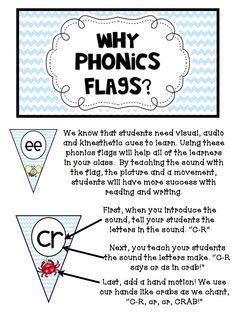 How to use a phonics flag