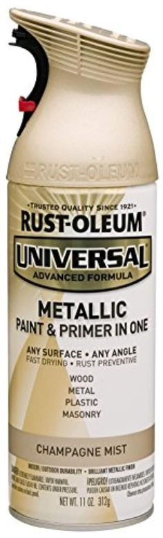 Rust-Oleum 261415 Universal All Surface Spray Paint, 11 oz, Metallic Champagne Mist, Champagne/Gold Metallic Spray Paint, Gold Paint, Craftsman Exterior, Modern Craftsman, Aged Copper, Laminate Counter, Marble Countertops, Kitchen Countertops, Painting Countertops
