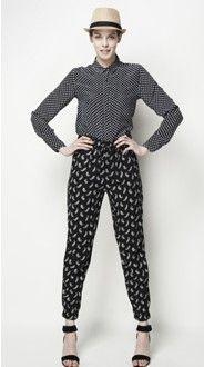 draped pants (Uniqlo)