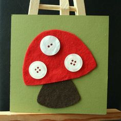 Cute toadstool art project for your Woodland Fairy Party.