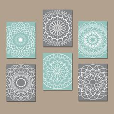 Go and visit our web page for even more involving this marvelous photo Bathroom Artwork, Gray Bathroom Decor, Grey Bathrooms, Mandala Artwork, Mandala Drawing, Mandala Painting, Arte Pallet, Aqua Bedrooms, Bedroom Wall
