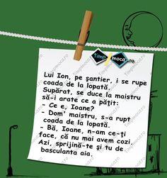TimpMoca.ro - Ion pe șantier #Bancuri #TimpMoca Have Some Fun, Let It Be, Humor, Funny, Humour, Funny Photos, Funny Parenting, Funny Humor, Comedy