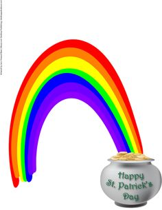 St. Patrick's Day Pictures and Graphics Tutorials: Pot of Gold and Rainbow