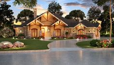You can call this stunning, sprawling one-story plan your home sweet home. The…