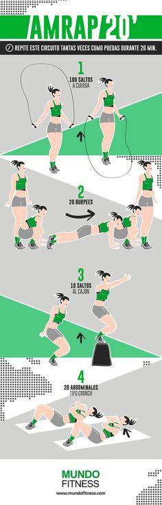20 minutos de cardio de CrossFit en casa