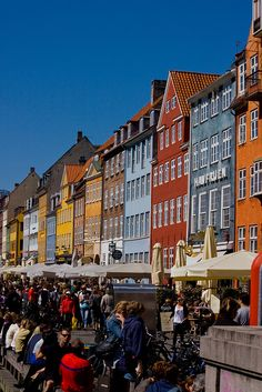 Nyhavn, Copenhagen Denmark...planning a  future trip to Denmark, to visit one half of our roots...