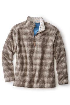 Melange Shadow Plaid Fleece Pullover from True Grit® | Territory Ahead