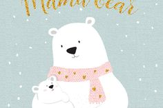 Mama bear, Giclee print, Giclee bear print, Polar Bear, Polar bear art, Nursery Art, Nursery Decor, Bear Art, Nursery Teddy Bear, Baby Gift.  ❥ Be right on trend with this beautiful and genuine handmade nursery POLAR BEAR GICLEE PRINT, featuring an illustrated mama bear wearing a pink knitted scarf with gold hearts, hugging her cute baby polar bear, on a delicately textured Mint background, with a quote Mama bear written in a faux gold handwriting font. The perfect addition to your trendy…