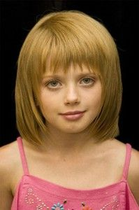 Short hair with bangs; haircut for little girl