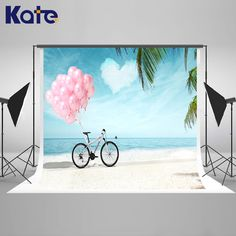 Kate Ocean Backdrop Sky Globos and Cloud Backdrops Newborn Photography Background Seamless Photo For Studio Custom #Affiliate
