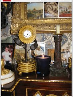 Nest Fragrance scented candle on mantel in NY bedroom of Howard Slatkin, from FIFTH AVENUE STYLE.