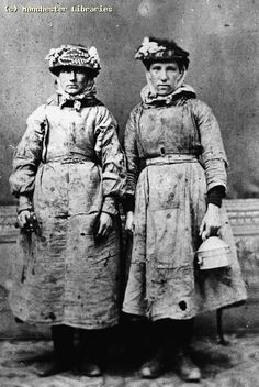 Pit brow lasses, 1890 | Ref no: m60804 | Manchester Archives+ | Flickr Women In History, World History, Asian History, Photos Du, Old Photos, Coal Mining, Interesting History, Before Us, The Victim