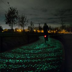 Dutch designer Daan Roosegaarde's cycle path