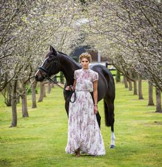 Myer ambassador Gigi Connolly wears the Justinian Dress and Magnolia Crop Top