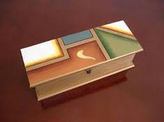 Resultado de imagen para cajas de te Painted Boxes, Wooden Boxes, Love Painting, Painting On Wood, Tea Holder, Decoupage Box, Geometric Art, Box Design, Ideas Para