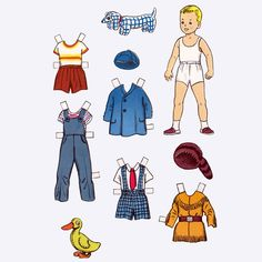 With the ever-increasing presence of screens in our lives, sometimes it can be nice to step back and take a break from technology. If your kids need to limit their screen time, why not try this Children Playing Paper Doll Template? Paper Doll Template, Paper Dolls Printable, Paper Dolls Clothing, Doll Clothes, Projects For Kids, Art Projects, My Scrapbook, Scrapbooking, Vintage Paper Dolls