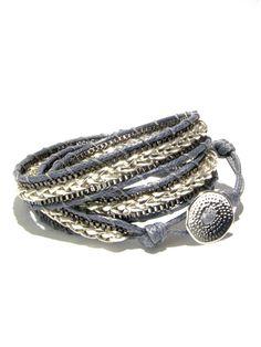 MERCER urban chic monochrome wrap bracelet