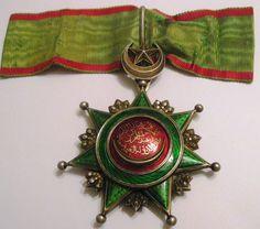 Türkei , Turkei Osmanisches Reich OSMANIEH Orden 3. Klasse, Komturkreuz, SELTEN