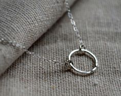 Tiny Karma Necklace - Sterling Silver - Eternal - Hammered- Circle on Etsy, $30.00