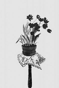 David Hockney, Black Tulips Classic and elegant holiday gift for your home