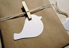 Bird Gift Tags and Place Cards, Wedding Escort Cards, Love Bird Favor Tags. $6.00, via Etsy.