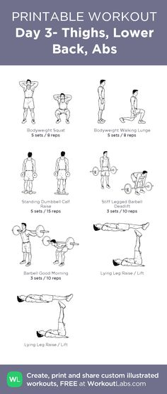 Day 3- Thighs, Lower Back, Abs