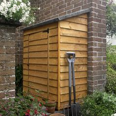 Overlap Midi Wall Garden Store from Forest Garden Products Wooden Storage Sheds, Shed Storage, Small Storage, Storage Boxes, Storage Ideas, Bike Storage, Tool Storage, Buy Shed, Lean To Shed