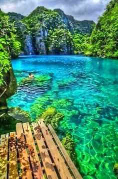 Palawan, Philippines - WOW!! i think i need to go just to see how much colour was put into this picture! - Tap the link to see the newly released collections for amazing beach bikinis! :D