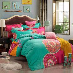 2015 nouvelle collection nouvelle 40 couette Bohemian literie Boho Style marocaine Bed housse de couette 100% coton brossé livraison gratuite dans Ensemble de literie de Maison & Jardin sur AliExpress.com | Alibaba Group