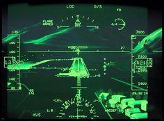 Commercial Jet Airliner Heads Up Display (HUD).