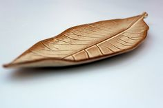 leaf shaped dish ceramic ring dish  ceramic by FreshPottery
