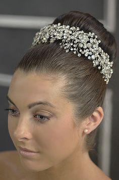 Stunning!  Elena Designs E765 Rhinestone Sprig Wedding Headpiece - Affordable Elegance Bridal -