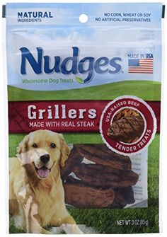 Nudges Grillers Dog Treats Steak 3 Ounce * Check out the image by visiting the link. Note: It's an affiliate link to Amazon.