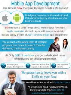The Time Is Now for Your Business needs a Mobile app