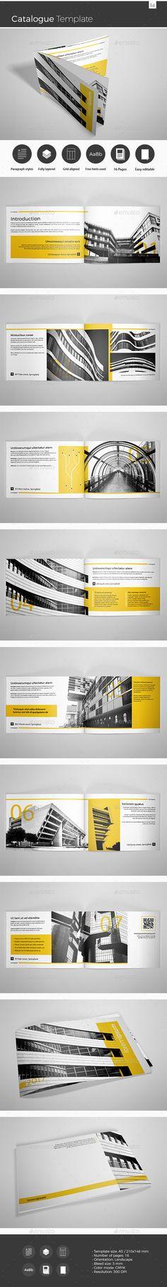 #Catalogue Template - Catalogs #Brochures Download here: https://graphicriver.net/item/catalogue-template/19699388?ref=alena994
