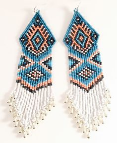 The Rain Dancer Beaded Earrings by Calisi on Etsy