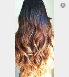 Love this coloring, if you were to like it but the top of your hair is to light for it and you don't want to die the top of your hair you could do it the opposite way and do dark in the bottom and leave your hair the same at the top.