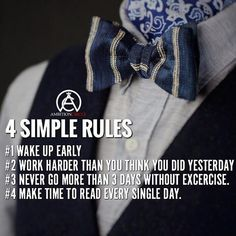 Principles to live by.