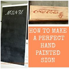 How to make perfect Hand Painted Signs every time with insider tips using Silhouette Cameo and CeCe Caldwell's 100% Natural Chalk + Clay Based Paints