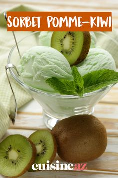 Le sorbet pomme-kiwi est un dessertveganàbasede fruit. #recette#cuisine#sorbet#fruit#pomme#kiwi#vegan#glace Sorbets, Gelato, Ice Cream, Frozen Desserts, Food Coloring, Thermomix, No Churn Ice Cream, Icecream Craft, Ice