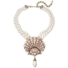 Heidi Daus Pink Mother-of-Pearl Necklace (72 KWD) ❤ liked on Polyvore featuring jewelry, necklaces, clasp necklace, pink pendant, heidi daus, hook necklace and mother of pearl jewelry